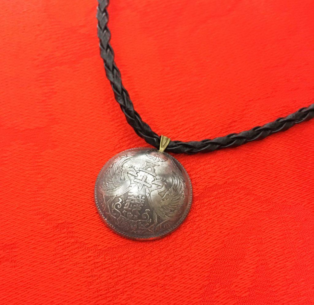 鳳凰五十銭銀貨ネックレス